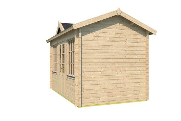 Compact garden room Clockhouse CAMBRIDGE 44   4.4 x 3 m (14'5'' x 9'7'') 44 mm 3