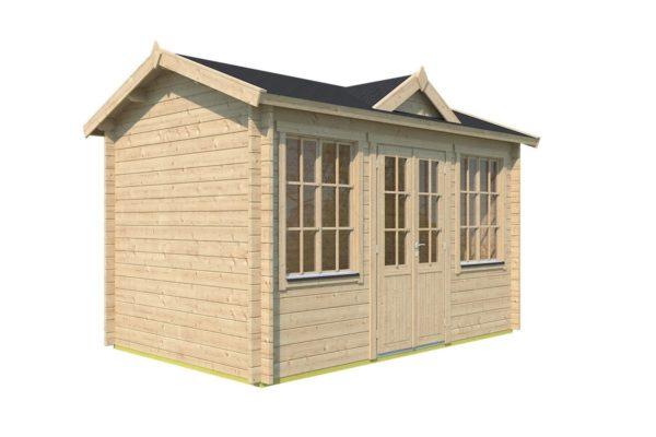 Compact garden room Clockhouse CAMBRIDGE 44 | 4.4 x 3 m (14'5'' x 9'7'') 44 mm 3