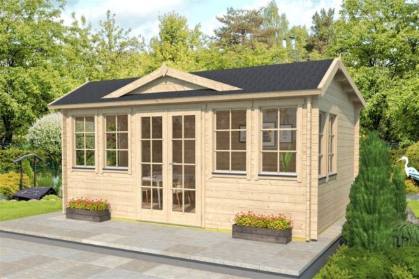 Classical garden room Clockhouse NEWCASTLE 70 | 5.7 x 4.2 m (18'8'' x 13'8'') 70 mm 1