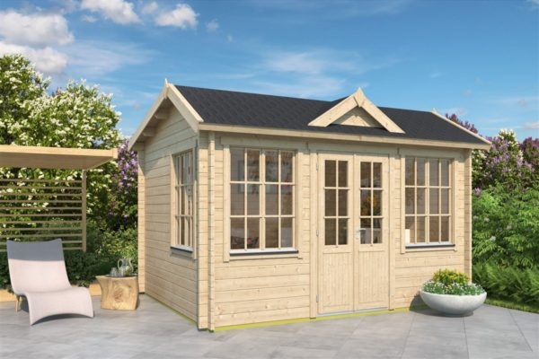 Gable roof garden room Clockhouse OXFORD 44 | 4.4 x 3.4 m (14'5'' x 11'2'') 44 mm 1