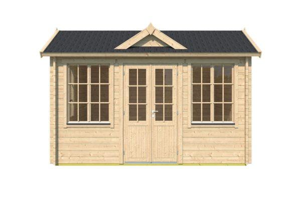Gable roof garden room Clockhouse OXFORD 44 | 4.4 x 3.4 m (14'5'' x 11'2'') 44 mm 2