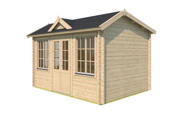 Gable roof garden room Clockhouse OXFORD 44   4.4 x 3.4 m (14'5'' x 11'2'') 44 mm 3