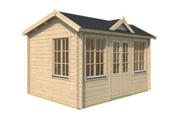 Gable roof garden room Clockhouse OXFORD 44   4.4 x 3.4 m (14'5'' x 11'2'') 44 mm 6