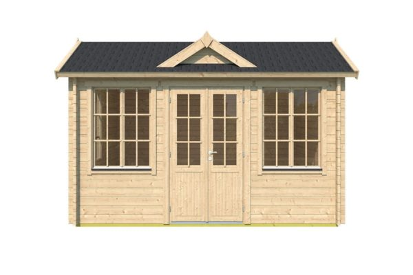 Classical compact garden room Clockhouse OXFORD 70 | 4.4 x 3.4 m (14'5'' x 11'2'') 70 mm 2