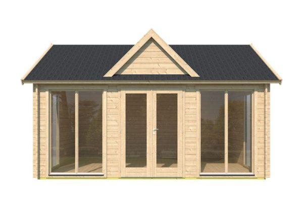 Double-door garden cabin Clockhouse WAKEFIELD 70 | 5.9 x 4.4 m (19'4'' x 14'4'') 70 mm 2