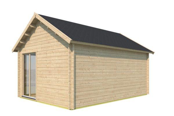 Double-door garden cabin Clockhouse WAKEFIELD 70 | 5.9 x 4.4 m (19'4'' x 14'4'') 70 mm 4