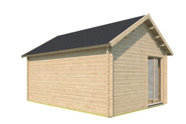 Double-door garden cabin Clockhouse WAKEFIELD 70 | 5.9 x 4.4 m (19'4'' x 14'4'') 70 mm 5