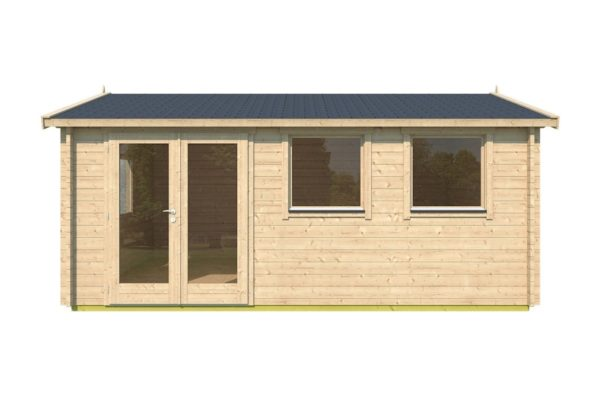 Simple gable roof garden cabin DAVOS 70 | 5.6 x 4.4 m ( 18'2'' x 14'2'') 70 mm 2