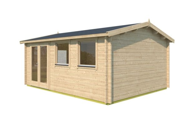 Simple gable roof garden cabin DAVOS 70 | 5.6 x 4.4 m ( 18'2'' x 14'2'') 70 mm 3