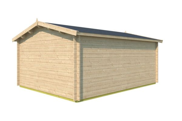 Simple gable roof garden cabin DAVOS 70 | 5.6 x 4.4 m ( 18'2'' x 14'2'') 70 mm 4