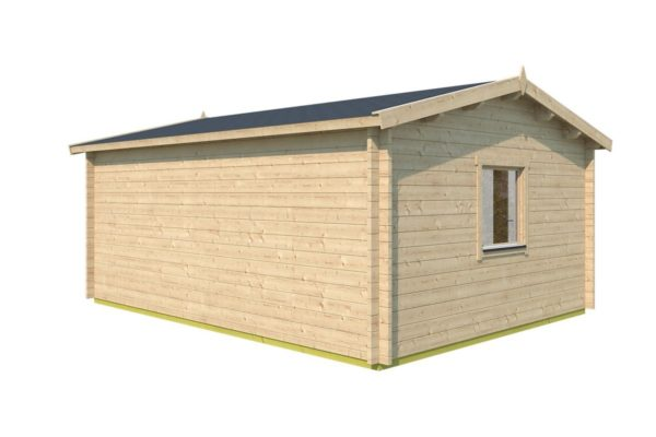 Simple gable roof garden cabin DAVOS 70 | 5.6 x 4.4 m ( 18'2'' x 14'2'') 70 mm 5
