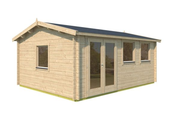 Simple gable roof garden cabin DAVOS 70 | 5.6 x 4.4 m ( 18'2'' x 14'2'') 70 mm 6
