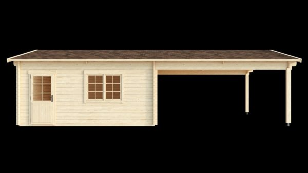 DOUBLE GARAGE AND CARPORT 44 for 4 vehicles | 10.6m x 5.3m (35' x 19' 6'') 44mm 5