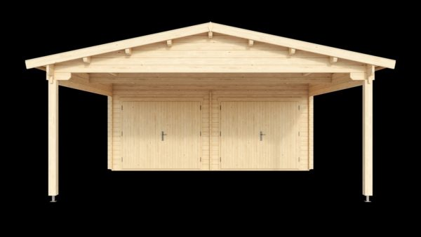 DOUBLE GARAGE AND CARPORT 44 for 4 vehicles | 10.6m x 5.3m (35' x 19' 6'') 44mm 3