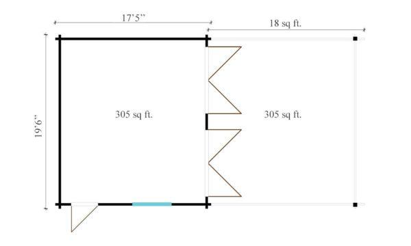 4 vehicle garage DOUBLE GARAGE AND CARPORT 70 | 10.6 m x 5.3 m (35' x 19'6'') 70 mm 8