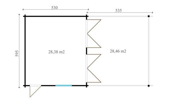 4 vehicle garage DOUBLE GARAGE AND CARPORT 70 | 10.6 m x 5.3 m (35' x 19'6'') 70 mm 7