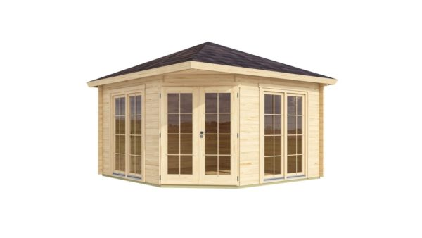 Garden shed with five corners FARGO 70 B | 3.8 x 3.8 m (12'6'' x 12'6'') 70 mm 3