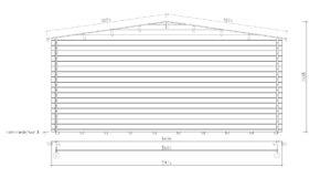 Wooden carport for 2 vehicles HANS 70 | 9.6 m x 6.1 m (31'6'' x 20'1'') 70 mm 14