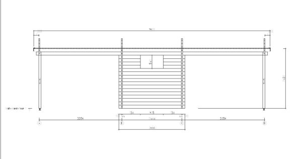 Wooden carport for 2 vehicles HANS 70 | 9.6 m x 6.1 m (31'6'' x 20'1'') 70 mm 8