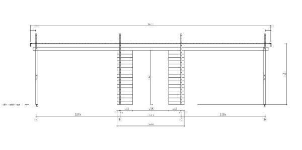 Wooden carport for 2 vehicles HANS 70 | 9.6 m x 6.1 m (31'6'' x 20'1'') 70 mm 7