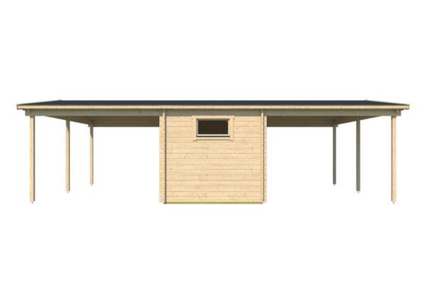 Wooden carport for 2 vehicles HANS 70 | 9.6 m x 6.1 m (31'6'' x 20'1'') 70 mm 6