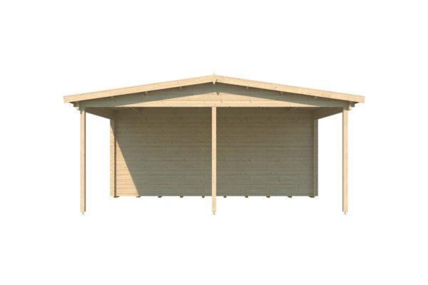 Wooden carport for 2 vehicles HANS 70 | 9.6 m x 6.1 m (31'6'' x 20'1'') 70 mm 3
