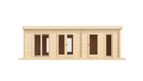 3-room modern garden house HENNING 70   8.7 x 6 m (28'7'' x 19'6'') 70 mm 3