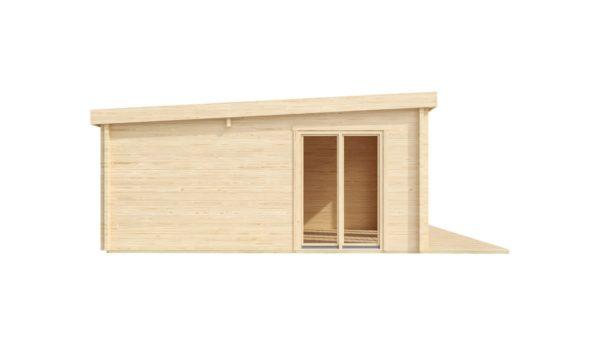 3-room modern garden house HENNING 70   8.7 x 6 m (28'7'' x 19'6'') 70 mm 5