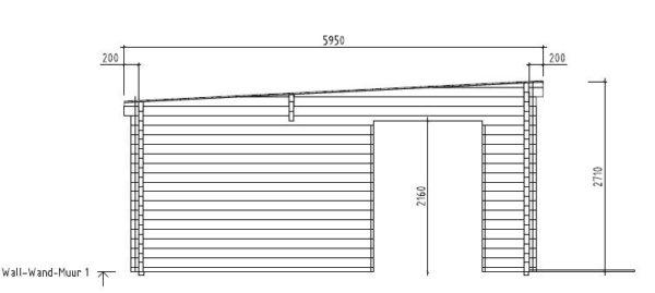 3-room modern garden house HENNING 70   8.7 x 6 m (28'7'' x 19'6'') 70 mm 10