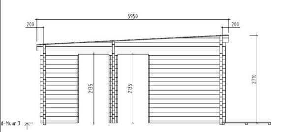 3-room modern garden house HENNING 70   8.7 x 6 m (28'7'' x 19'6'') 70 mm 12