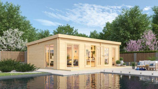 3-room modern garden house HENNING 70 | 8.7 x 6 m (28'7'' x 19'6'') 70 mm 1