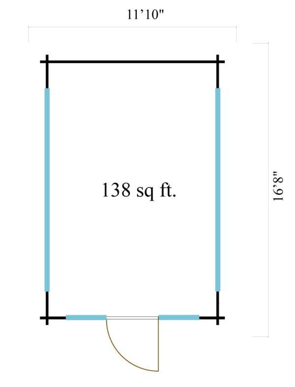 Elegantly designed garden room JURA 70 | 3.6 x 5 m (11'10'' x 16'8'') 70 mm 6