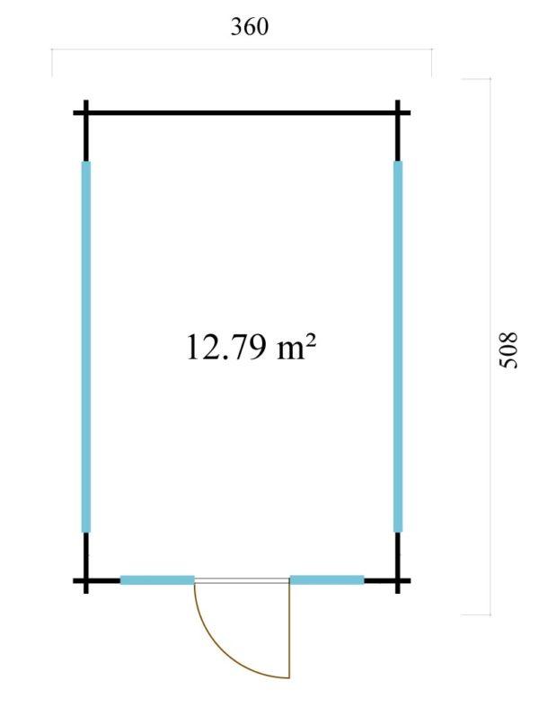 Elegantly designed garden room JURA 70 | 3.6 x 5 m (11'10'' x 16'8'') 70 mm 7