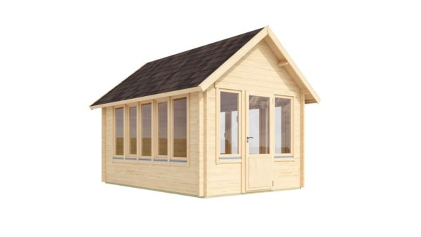 Garden room with a gable roof JURA 44 | 3.6 x 5 m (11'10'' x 16'8'') 44 mm 2