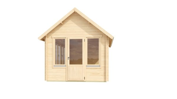 Garden room with a gable roof JURA 44 | 3.6 x 5 m (11'10'' x 16'8'') 44 mm 3