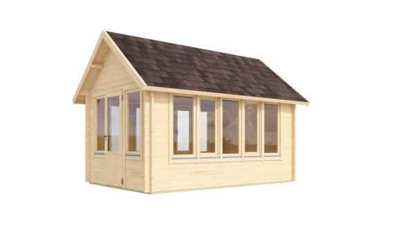 Garden room with a gable roof JURA 44 | 3.6 x 5 m (11'10'' x 16'8'') 44 mm 4