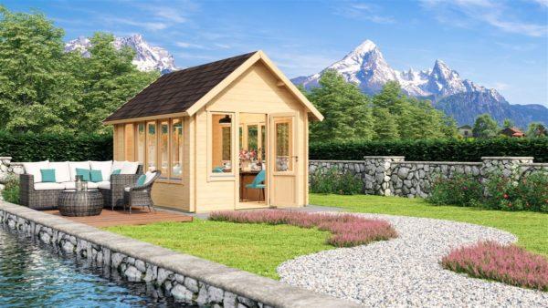 Elegantly designed garden room JURA 70 | 3.6 x 5 m (11'10'' x 16'8'') 70 mm 1