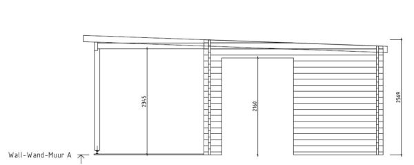 Wooden cabin with a terrace KAARLO 70   6 m x 6.8 m (19'7'' x 22'4'') 70 mm 8