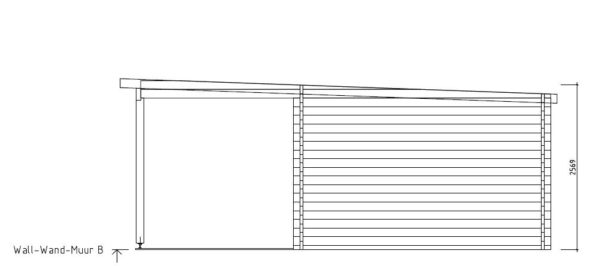 Wooden cabin with a terrace KAARLO 70   6 m x 6.8 m (19'7'' x 22'4'') 70 mm 9