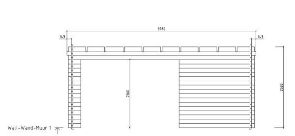 Wooden cabin with a terrace KAARLO 70   6 m x 6.8 m (19'7'' x 22'4'') 70 mm 7