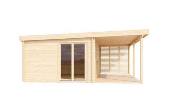 Wooden cabin with a terrace KAARLO 70 | 6 m x 6.8 m (19'7'' x 22'4'') 70 mm 5