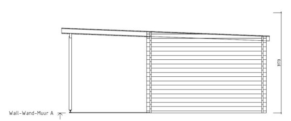 Contemporary wooden cabin KENO 70 with a terrace   5.2 m x 6.5 m (17'1'' x 21'4'') 70 mm 11
