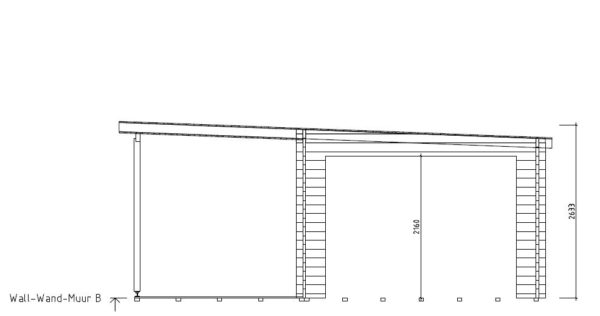 Contemporary wooden cabin KENO 70 with a terrace   5.2 m x 6.5 m (17'1'' x 21'4'') 70 mm 8
