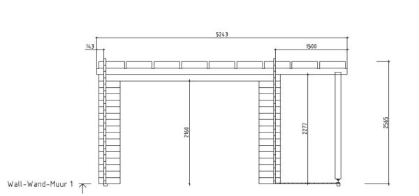 Contemporary wooden cabin KENO 70 with a terrace   5.2 m x 6.5 m (17'1'' x 21'4'') 70 mm 7