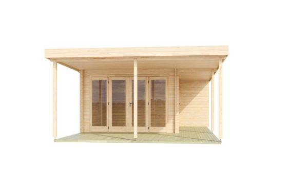 Contemporary wooden cabin KENO 70 with a terrace   5.2 m x 6.5 m (17'1'' x 21'4'') 70 mm 4