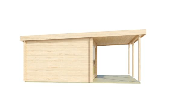 Contemporary wooden cabin KENO 70 with a terrace   5.2 m x 6.5 m (17'1'' x 21'4'') 70 mm 3