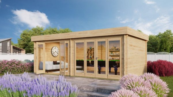 Spacious garden room KEVIN 70 | 7 m x 4 m (23' x 13'2'') 70 mm 1