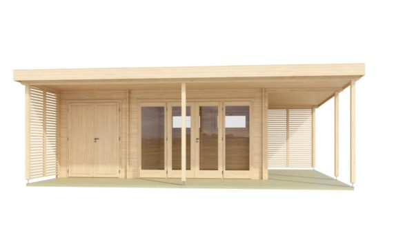 Modern garden annexe KILIAN 44 | 8 x 6.2 m (26'3'' x 20'3'') 44 mm 2