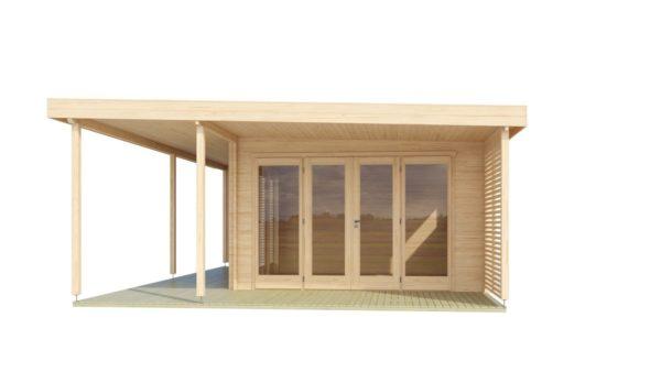 Modern garden annexe KILIAN 44 | 8 x 6.2 m (26'3'' x 20'3'') 44 mm 3