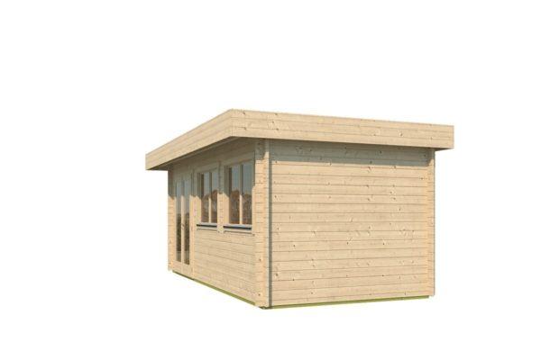 Modern corner shed KURT 44 A | 6.1 x 3.6 m (19'11'' x 11'10'') 44 mm 3